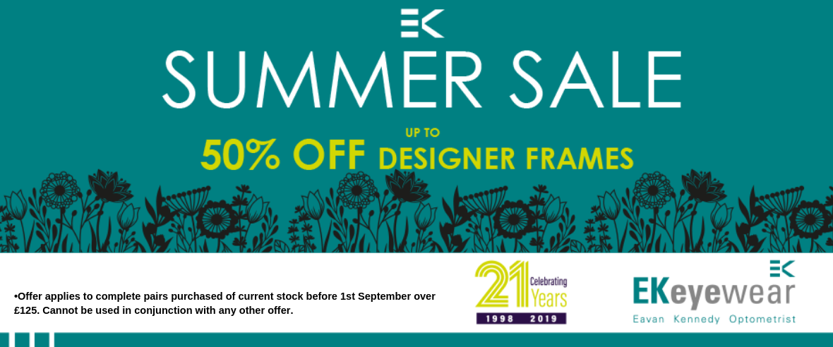 EK Eyewear Summer Sale